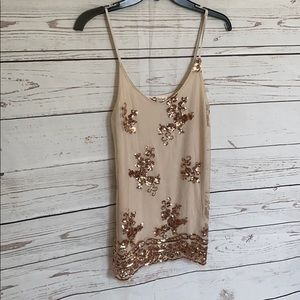 About a girl sequin cami